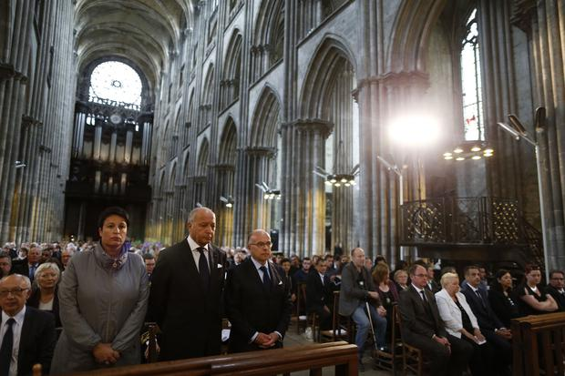 The funeral mass for Father Jacques Hamel at the Rouen cathedral, Normandy,