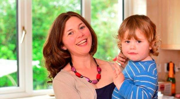 Under pressure: Chrissie Russell still breastfeeds her two-year-old son Tom. Photo: Pacemaker