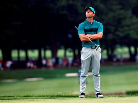 'We don't know for sure if McIlroy's Nike contract prohibits the use of a Scotty Cameron putter.' Picture: AP Photo/Mike Groll