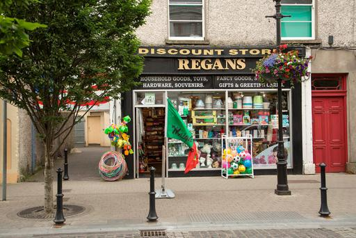 Regan's discount store at Pearse Street, Ballina, Co. Mayo, which a man attempted to rob. Photo : Keith Heneghan