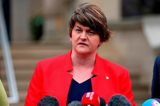 First Minister of Northern Ireland and leader of the Democratic Unionist Party, Arlene Foster. Photo: Liam McBurney/PA Wire