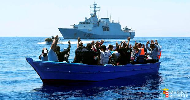 Turkey struck a deal to host migrants, such as these, who were rescued by the Italian Navy in the Mediterranean. Photo: Marina Militare Italian Navy via AP