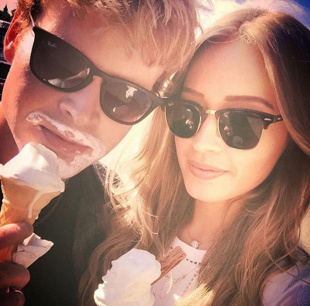 Diana Bunici and Steve Garrigan. Picture: Instagram