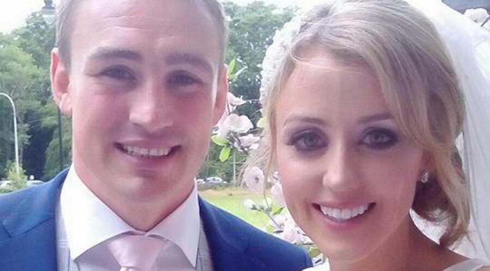 Tommy O'Donnell and Elisse O'Grady on their wedding day