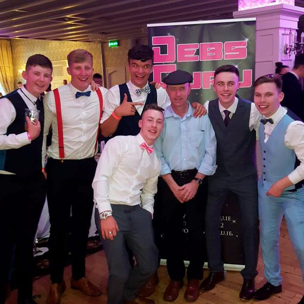 Michael Healy Rae (centre) appeared at Kenmare Debs. Photo: Declan Bennett (Facebook)