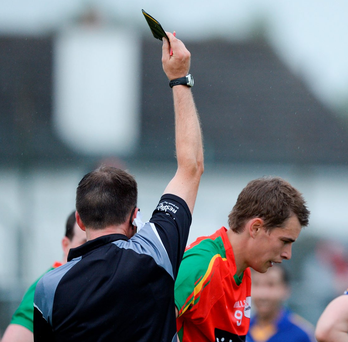 Walsh accepts that there are public misconceptions about the black card, which lead to frustration over some decisions. Photo: Ray Lohan/Sportsfile