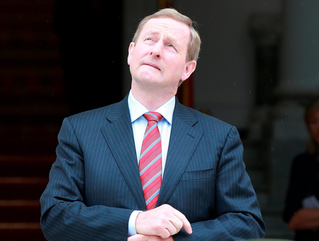 Taoiseach Enda Kenny has moved to allay fears of a return of a hard border between the Republic and Northern Ireland. Photo: Frank Mc Grath