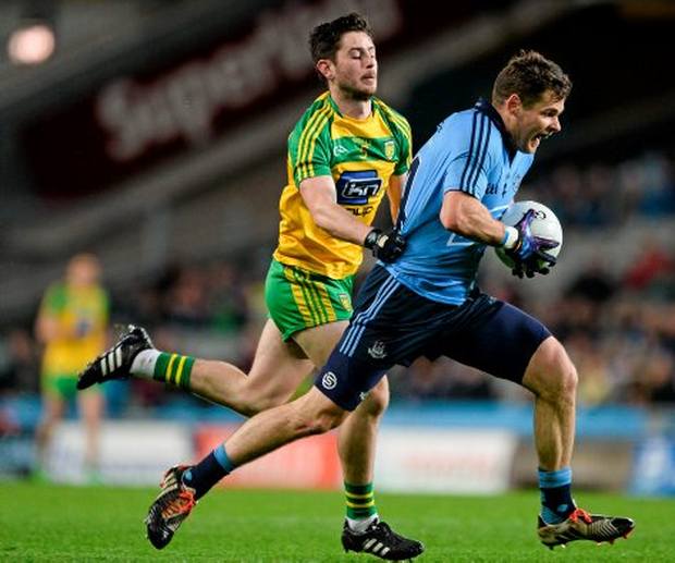 Dublin's Kevin McManamon and Donegal's Ryan McHugh will be key men for their respective counties in Saturday's All-Ireland quarter-final. Photo: Dáire Brennan/Sportsfile