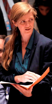 United Nations US Ambassador Samantha Power Photo: REUTERS/Andrew Kelly