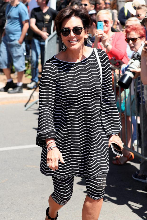 TV personality Kris Jenner attends 69th annual Cannes Film Festival at Magnum Beach on May 12, 2016 in Cannes, France. (Photo by Andreas Rentz/Getty Images)