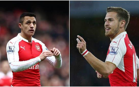 Sanchez and Ramsey are being fast-tracked onto the the Gunners' pre-season trip to Sweden CREDIT: REX/REUTERS