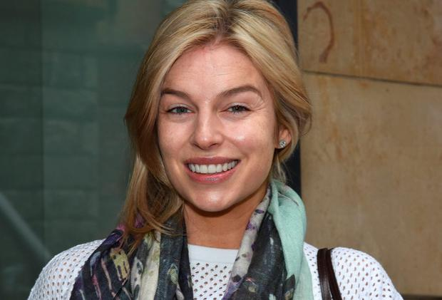 A make-up free Pippa O'Connor at Today FM's Anton Savage Show