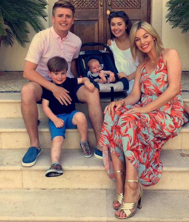 Pippa O'Connor with husband Brian Ormond, sons Ollie and Louis and stepdaughter Chloe