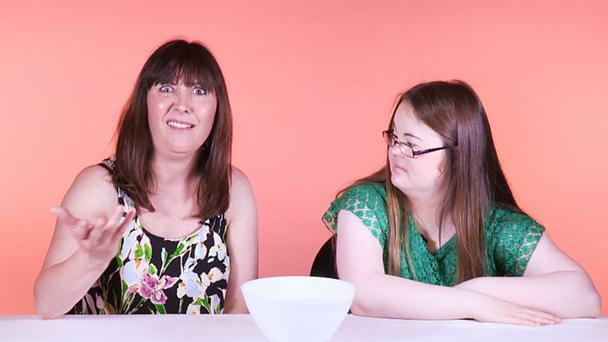 Things people with Down Syndrome are tired of hearing. Photo: BBC Three