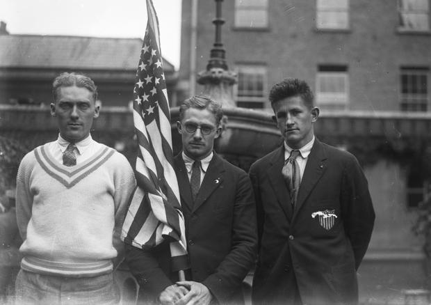 Tailteann Games. American Athletes. 1924. (Part of the Independent Newspapers Ireland/NLI Collection)