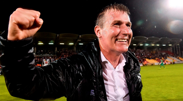 Stephen Kenny's side will definitely be moving to Ballsbridge in their attempt to reach the group stage as it was the only suitable venue in the region for this stage of the competition. Photo: David Maher/Sportsfile