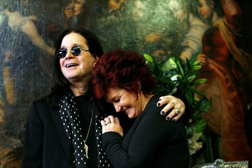 Black Sabbath singer Ozzy Osbourne with his wife Sharon Osbourne.