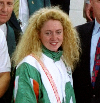 Three time gold medal winner Michelle Smith