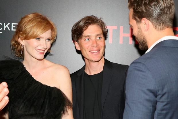 Actors Anna Geislerova, Cillian Murphy and Jamie Dornan attend the New York premiere of
