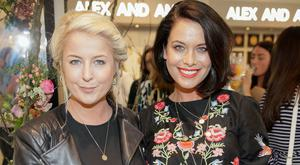 Rebecca Brady and Michele McGrath at Alex and Ani's launch of their Chain Station range at Arnotts in Dublin