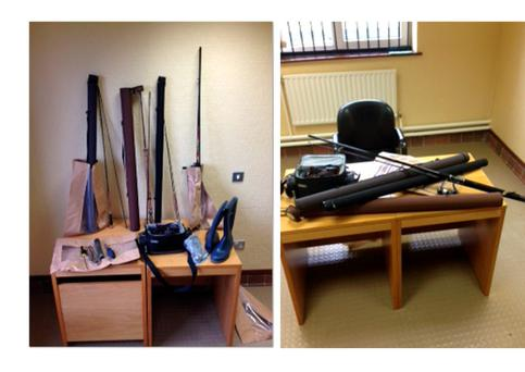 Some of the items seized in Tuam. Picture: garda Press Office