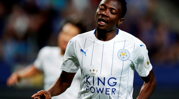 Ahmed Musa arrived at Leicester City FC from CSKA Moscow. (Photo by Nils Petter Nilsson/Ombrello/Getty Images)