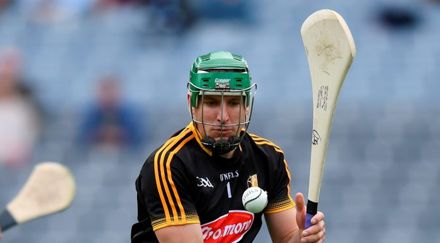 Eoin Murphy of Kilkenny was forced to pick ball after ball out of the Kilkenny net. Photo: Sportsfile