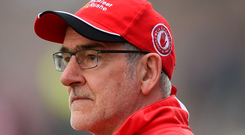 Mickey Harte is a driven competitor and his Tyrone teams reflect that. Photo: Sportsfile