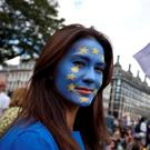 A young woman at a Remain rally ahead of the UK Brexit referendum. Photo: Reuters
