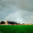 Matt Browne's picture of Oriel Park. Photo: Sportsfile