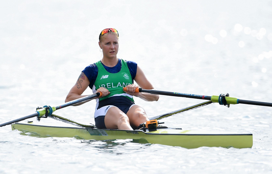 Women's single sculls rower Sanita Puspure. Photo by Brendan Moran/Sportsfile