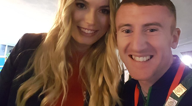 Caroline Wozniacki and Paddy Barnes. Courtesy of @paddyb_ireland