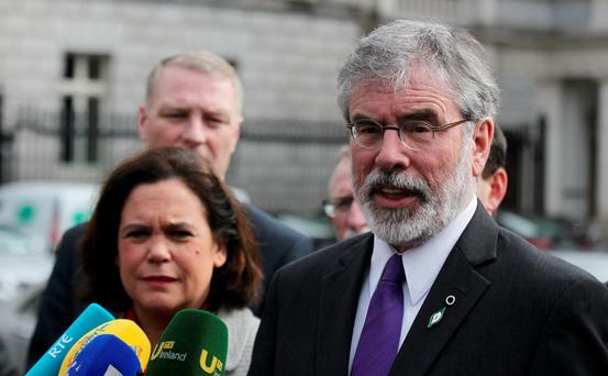 'We'd prefer a unitary state, but can we look at other methods? Yes, absolutely' – Gerry Adams. Pic Stephen Collins/Collins Photos