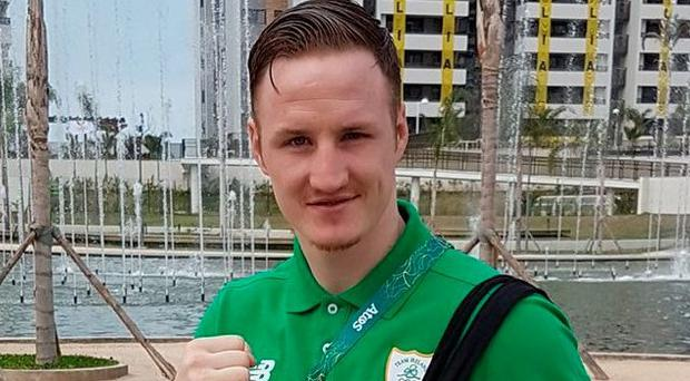 AGAINST THE ROPES: Boxer Michael O'Reilly. Pic: Michael O'Reilly/Twitter