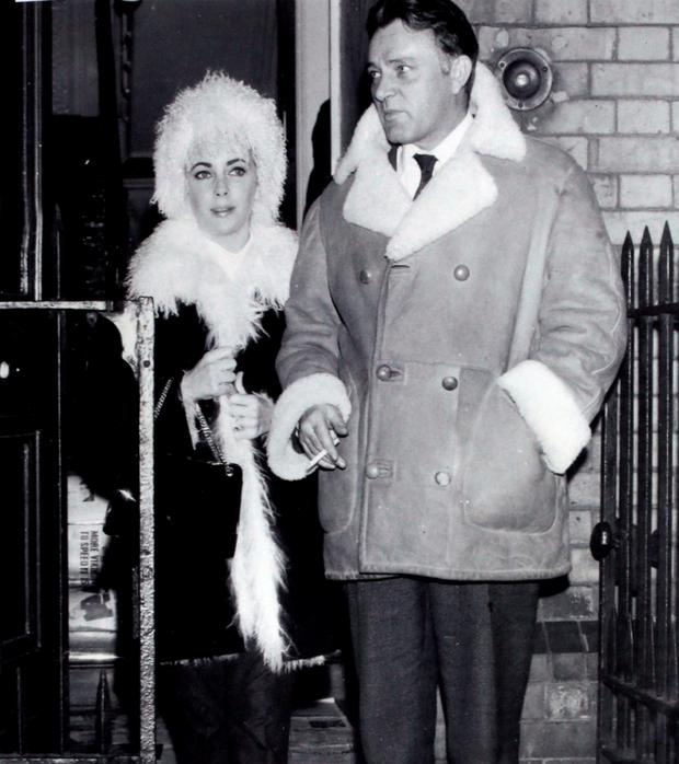 Elizabeth Taylor and Richard Burton pictured out and about in Dublin in 1965