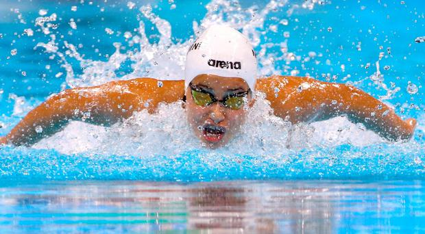 Yusra Mardini (SYR) of Refugee Olympic Athletes competes