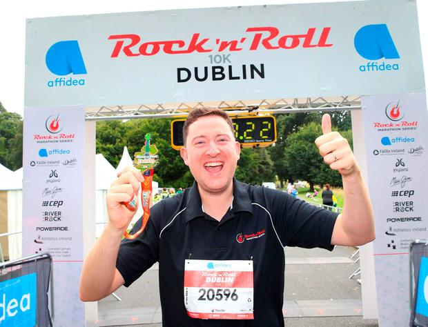Ray Foley pictured at the 10km Finish line. Pic: Marc O'Sullivan