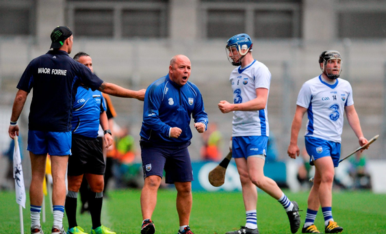 Waterford manager Derek McGrath during the GAA Hurling All-Ireland Senior Championship semi-final match between Kilkenny and Waterford