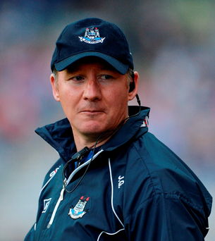'When a veteran like Harte and Dublin manager Jim Gavin (pictured) start complaining, it rings a bit hollow.'. Photo by Oliver McVeigh/Sportsfile