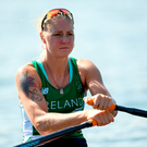Irish single sculler Sanita Puspure is preparing for her quarter-final which was originally scheduled for today. Photo: Ramsey Cardy/Sportsfile