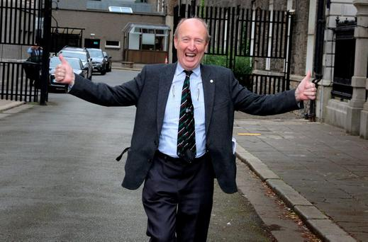 Shane Ross: From bombastic opposition TD to dormouse minister in power. Photo: Tom Burke