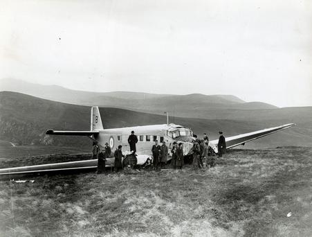 The site of the 1946 plane crash in the Wicklow Mountains