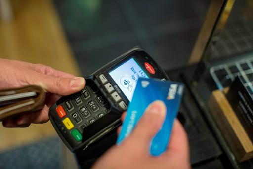 Contactless bank cards can be used for 'tap-and-go' payments. Photo: Bloomberg