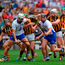 Waterford players,Shane Fives, 2, Pauric Mahony, 20, Conor Gleeson, 17, Austin Gleeson, 6 and Philip Mahony vie for possession with Kilkenny players Richie Hogan, 15, Eoin Larkin, Michael Fennelly, 9, Joey Holden, 3, John Power and Lester Ryan. Photo by Ray McManus/Sportsfile
