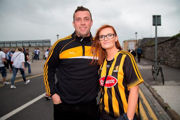 Kilkenny supporters Jason Nugent and Edel Byrne. Picture by Fergal Phillips