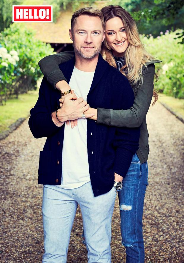 Ronan and Storm Keating in Hello! magazine. Picture: Hello! Magazine/PA Wire