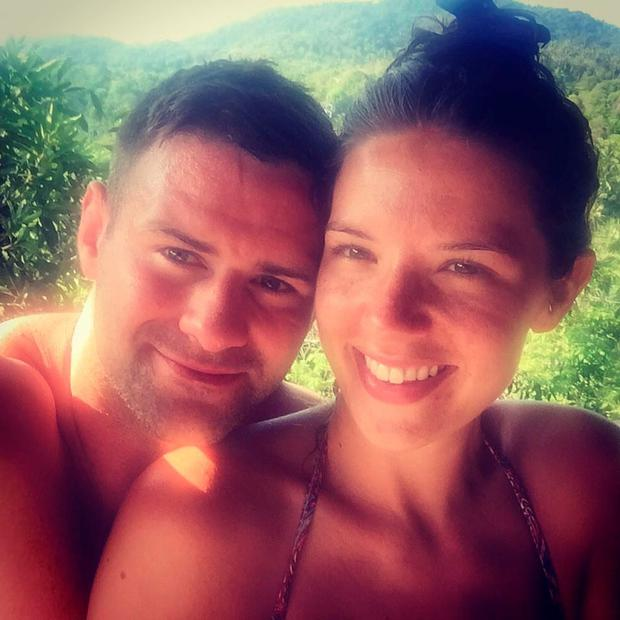 Fergus McFadden and fiancée Rebecca Sinnamon. Picture: Facebook