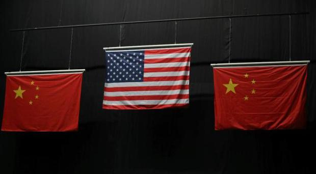 The 'flawed' Chinese flag at a medal ceremony CREDIT: USA TODAY SPORTS