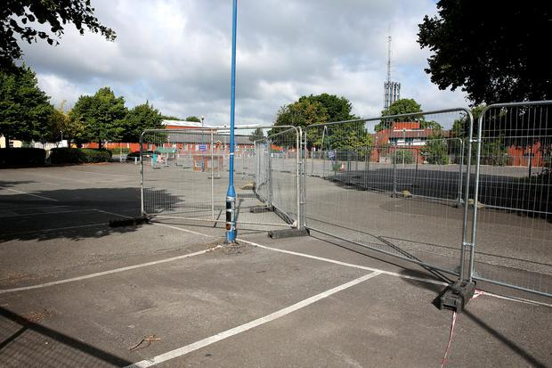 A carpark within St James Hospital which was used by nurses and staff which is now closed as construction of the ne Childrens hospital gets underway. Picture: Gerry Mooney