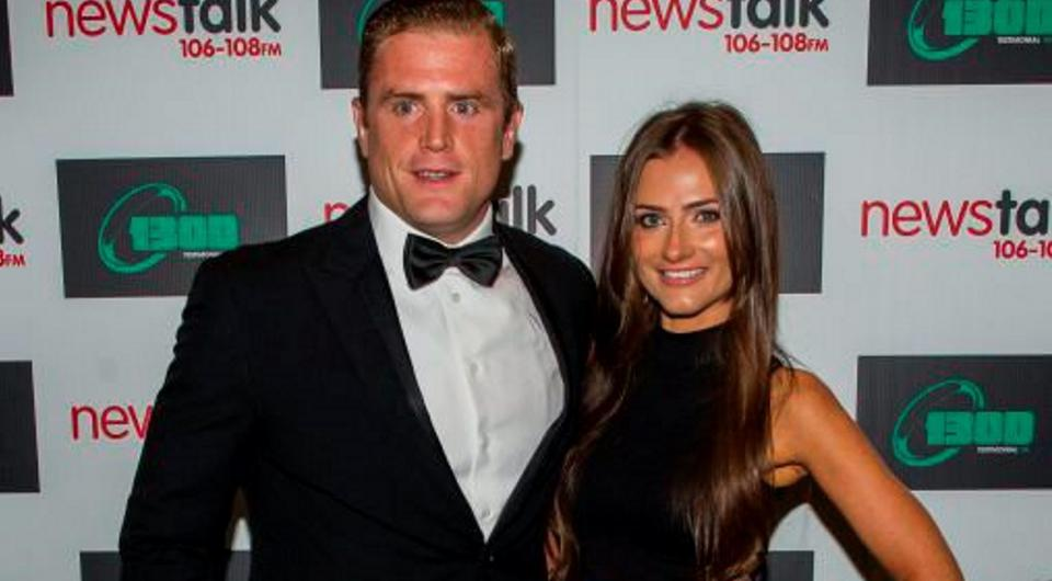 Jamie Heaslip and fiancée Sheena O'Buachalla